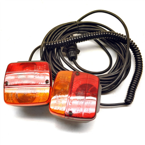 Magnetic Trailer or Caravan Lighting Board / Car Recovery Lights 10m Cable TR086
