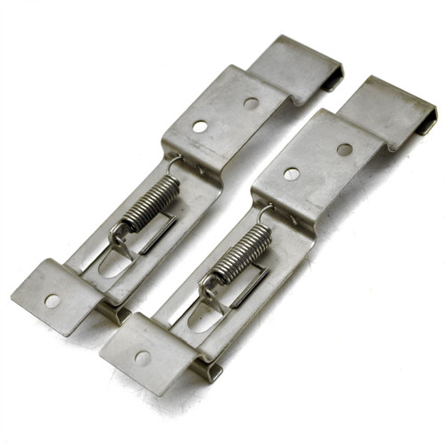 Trailer Number Plate Clips / Holder Spring Loaded Stainless Steel PAIR TR112