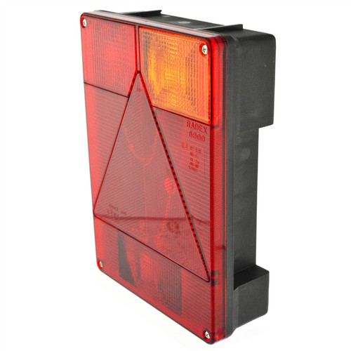 Trailer Light Radex Right Hand for Ifor Williams & Indespension Lamp TR188