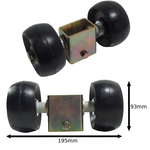 Boat / Jetski / Dinghy Trailer Castor Rollers & Steel Bracket UBR33 UBR34