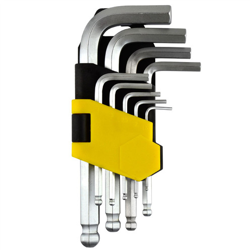 Hex / Allen Key Set Metric Ball Ended 1.5mm - 10mm 9pc By BERGEN AT159