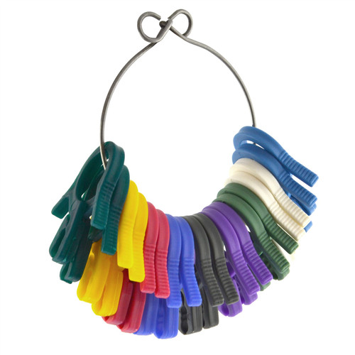 Colour Coded Identification Identifying Clips Tags For Hose Cables 9 pairs AN118