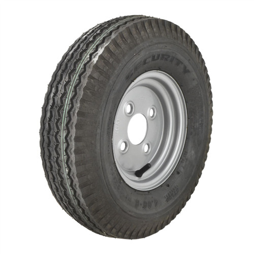 4.00 x 8 100mm PCD 6 PLY Trailer Tyre Wheel Rim 4 Stud Tubeless 70N TRSP22