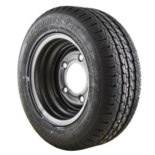 """195/60 R12C Tyre & Wheel Rim 5 Stud 108/106N 6-1/2"""" PCD TRSP38"""