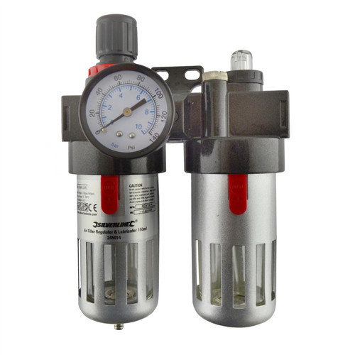 Air Filter Regulator and Lubricator Air Tools Fittings Water Trap Compressor SIL332