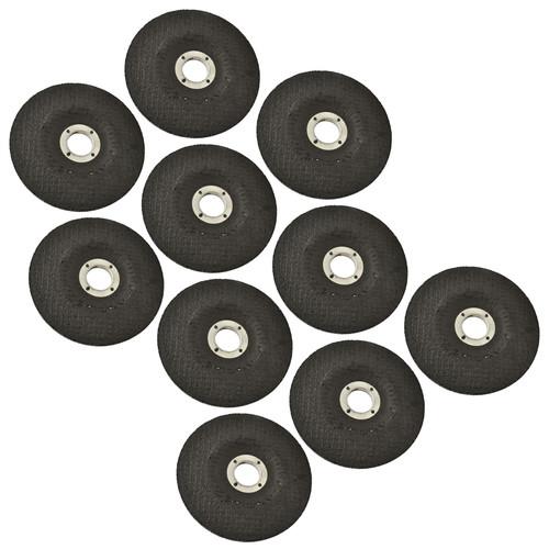 "10pc Metal Grinding Angle Grinder Disc 115mm (4-1/2"") Depressed Centre TE786"