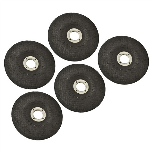 "5pc Metal Grinding Angle Grinder Disc 115mm (4-1/2"") Depressed Centre TE786"