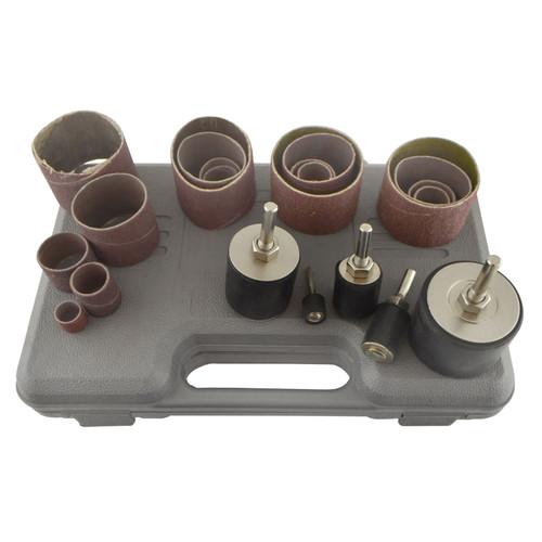 80 Grit Drum Sanding Rotary Kit In Case Spindle Sander 13 19 25 38 50mm SIL326