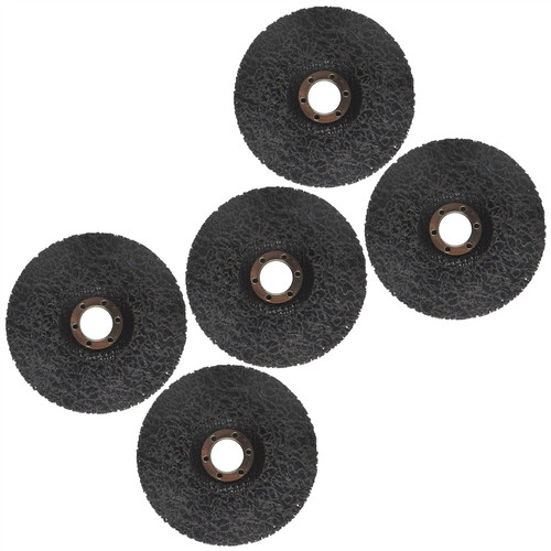 115mm Clean And Strip Disc Rust Paint Welding Spatter Removal Angle Grinder 5pk
