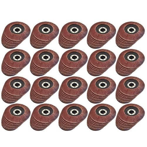 "200 x Flap Discs 80 Grit Angle Grinder 4.5"" (115mm) Flat Sanding Grinding AU014"
