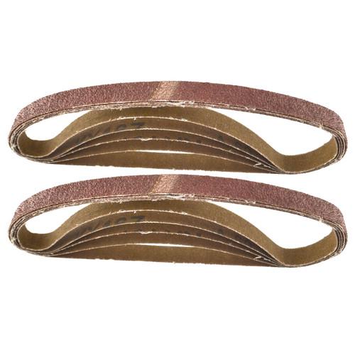 Belt Power Finger File Sander Abrasive Sanding Belts 457mm x 13mm 60 Grit 10 PK