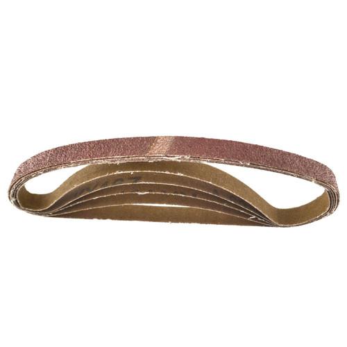 Belt Power Finger File Sander Abrasive Sanding Belts 457mm x 13mm 60 Grit 5 PK
