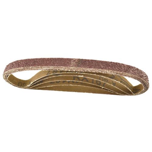 Belt Power Finger File Sander Abrasive Sanding Belts 457mm x 13mm 40 Grit 5 PK
