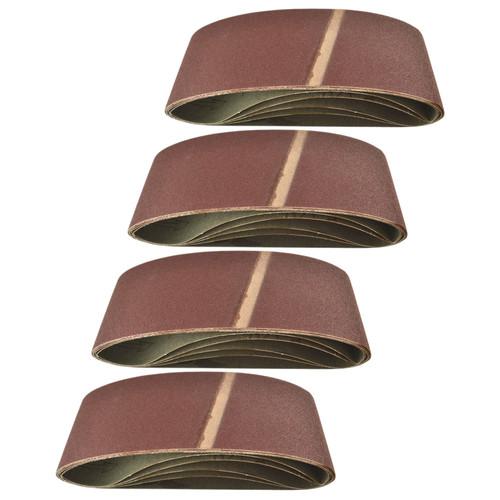Belt Power Finger File Sander Abrasive Sanding Belts 457mm x 75mm 120 Grit 20 PK