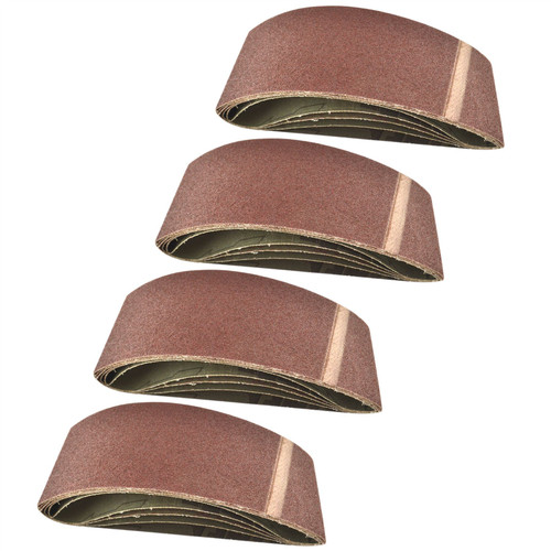 Belt Power Finger File Sander Abrasive Sanding Belts 457mm x 75mm 80 Grit 20 PK