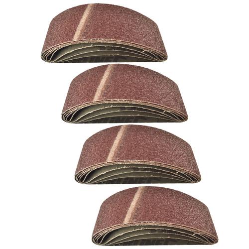 Belt Power Finger File Sander Abrasive Sanding Belts 533mm x 75mm 40 Grit 20 PK