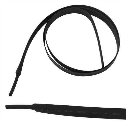 Electrical Heatshrink Tubing Sleeving Waterproof Black 8mm x 0.5 Metre
