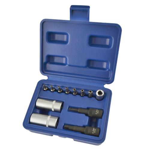 12pc Air Conditioning Service Repair Tool Set Valve Cap & Core Removers TE836
