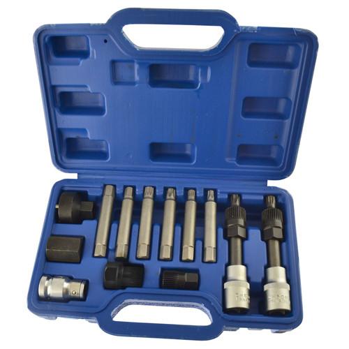 "13pc Alternator Tool Freewheel Pulley Repair Removal For BOSCH 1/2"" dr TE842"