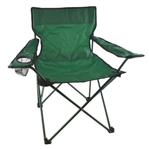 Camping Chair Folding Lounger Cup Holder Canvas Garden Outdoor Festival CMP28