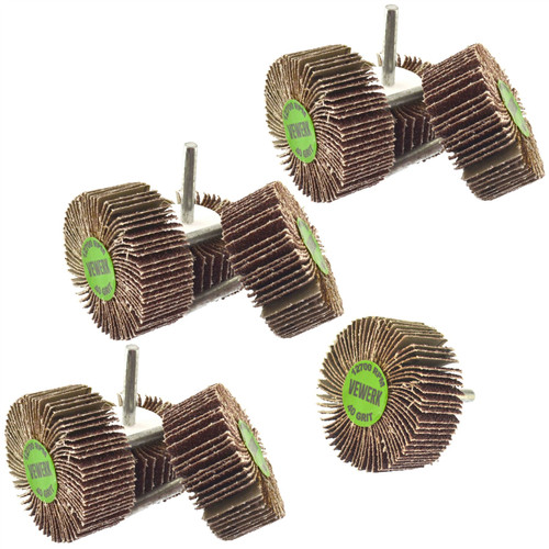 Flap Wheel Disc Shaft Mounted Abrasive Sanding Drill 60mm 40 & 80 Grit 20PK