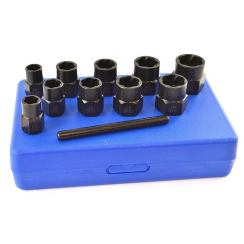 """11pc 3/8"""" Twist Socket Nut Style Bolt Twist Socket Wheel Lock Nut Remover TE919"""