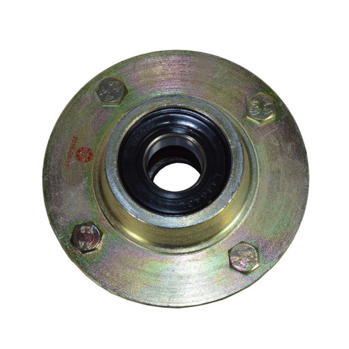 """Trailer Cast Wheel Hub 4"""" PCD  1"""" Taper Bearing 4 Stud With Wheel Nuts And Cap"""