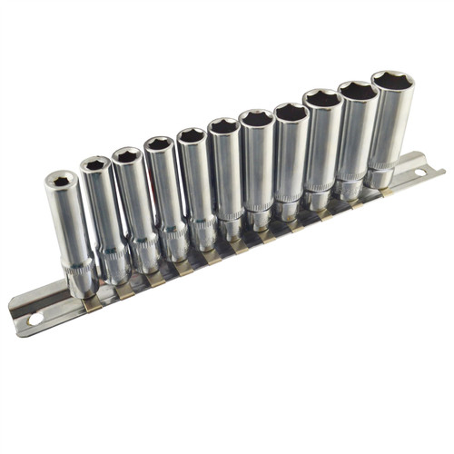 """1/4"""" Drive Imperial SAE AF Double Deep Sockets 11pc 5/32"""" - 1/2"""" 6 Sided By Bergen"""