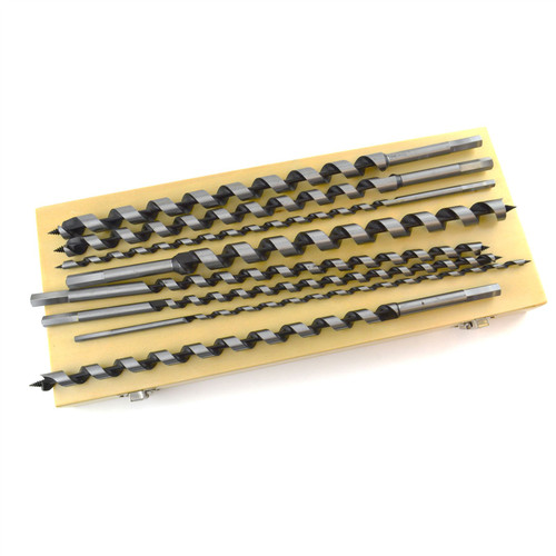 """8pc 16"""" (410mm) Auger Twist Drill Bits 6 - 20mm Wood Hex Shank TE928"""