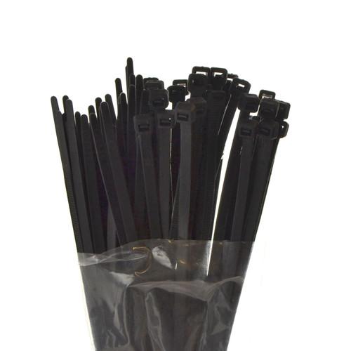 75pc Zip Ties 200mm x 4.5mm Black Cable Ties Wrap Wire Lock Ties TE949