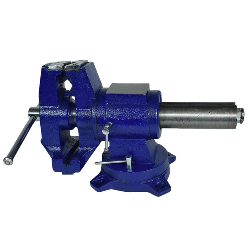 """5"""" (125mm) Vice Swivel Base Vise Anvil Clamp Holder Pipe Grip Jaws Iron Bench"""