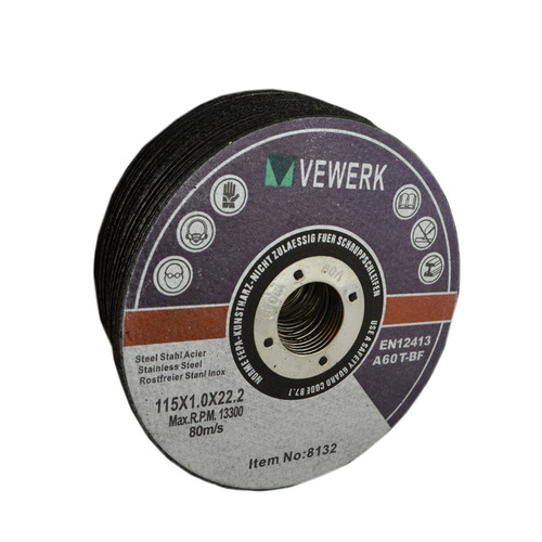 """Thin Metal Steel Cutting Discs For 4-1/2"""" Angle Grinder 115mm x 1mm Pack of 25"""