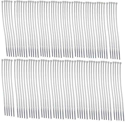 White Nylon Cable Ties Zip Ties Lock Ties 3.6mm x 200mm 100 Pack