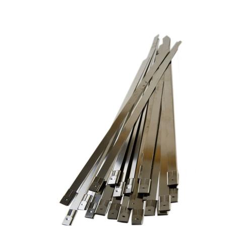 25pc Stainless Steel Metal Cable Ties Fasteners Zip Ties 200mm x 7.9mm Bergen