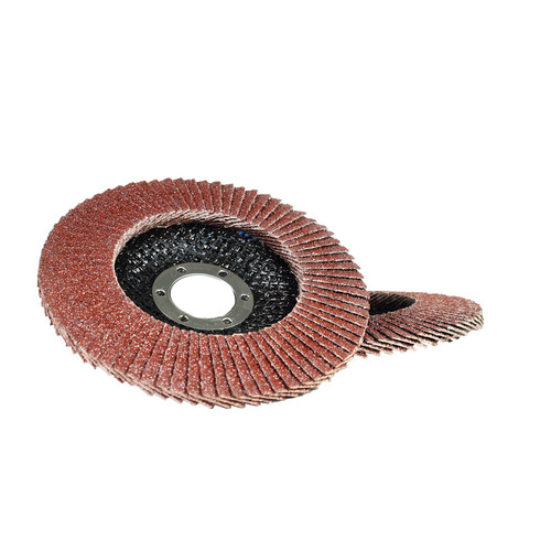 "2 x 40 Grit Flap Discs Sanding Grinding Rust Removing For 4-1/2"" (115mm) Grinder"