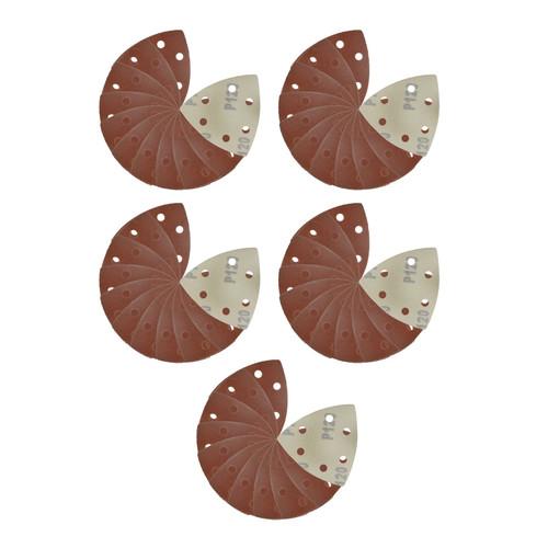 Hook/Loop Sanding Abrasive Discs Pads 90mm Sanding Triangle 50 PK 120 Grit