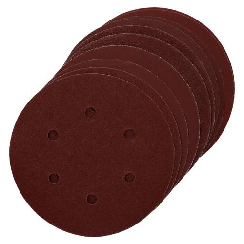 Hook/Loop Sanding Abrasive Discs Orbital DA Palm Sander 10PK 150mm Mixed Grit