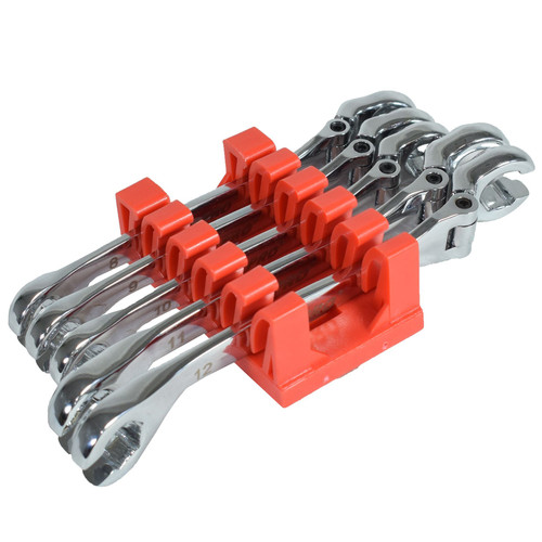 Flexible Flexi Head Brake Flare Nut Spanners Wrench Set 8 - 12mm 5pc U S Pro