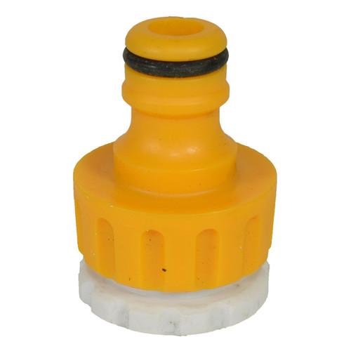 "3/4"" BSP Tap Adaptor With White Insert Adaptor 1/2"" BSP Pipes Garden Water"