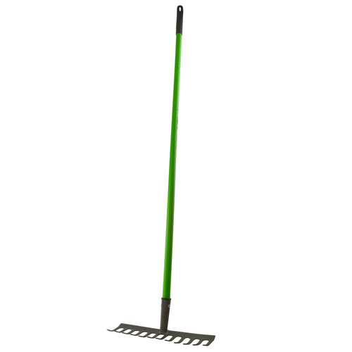 Garden Rake Soil Leaves Leaf Raker 12 Teeth Carbon Steel With PVC Grip GAR02