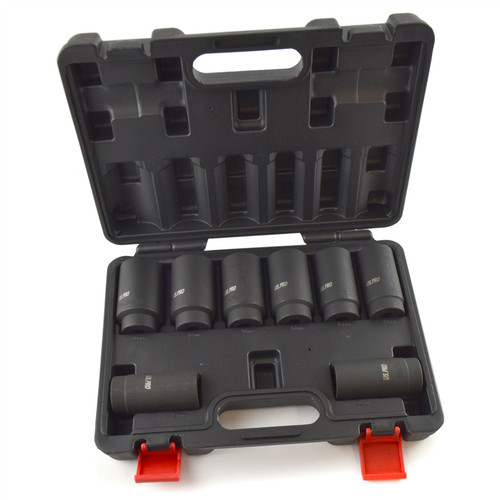 "1/2"" Drive Lug Wheel Nuts Nut Impact Sockets Metric Sizes 29mm - 39mm 8pc Set"