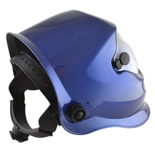 Auto Darkening Welders Helmet Mask Welding Grinding Blue & 5 x Lens Cover