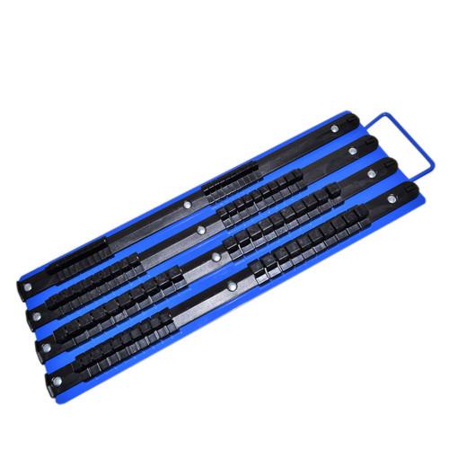 "Socket Holder Tray Rack Rail Storage 1/4"" 3/8"" and 1/2"" Drive 80pc"