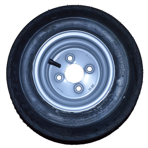16.5/6.50 - 8 Trailer Tyre Wheel Rim 100mm PCD 6PLY 4 Stud 72M TRSP46