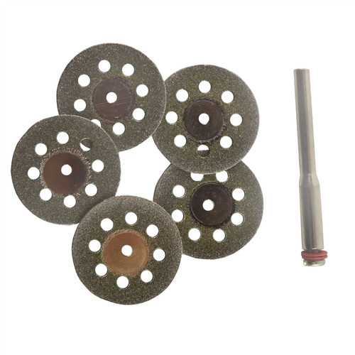 Diamond Tipped And Vented Mini Rotary Cutting Discs Cut Off Disc For Dremel 5pc