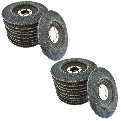 "80 Grit Zirconium Flap Disc Sanding Grinding Rust Removing 4-1/2"" grinder 20pk"