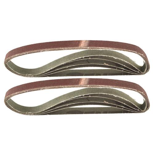 Belt Power Finger File Sander Abrasive Sanding Belts 457mm x 13mm 80 Grit 10 PK