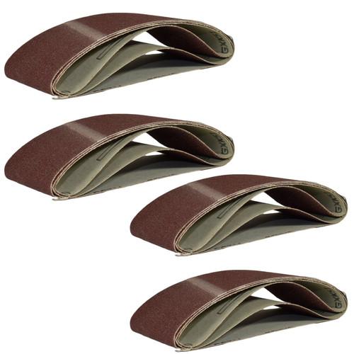 Belt Power Finger File Sander Abrasive Sanding Belt 457mm x 75mm Mixed Grit x 12
