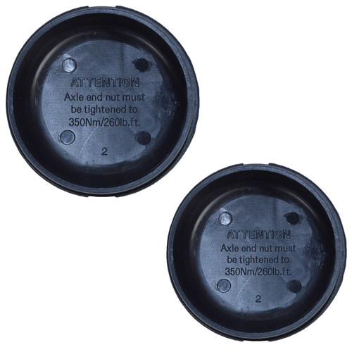 2 x Replacement Black Plastic Hub Grease Dust Cap 75mm For Ifor Williams Trailer