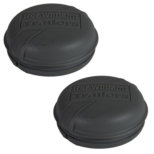 2 x Grey Plastic Hub Cap Grease Dust Bearing Cap 76mm For Ifor Williams Trailers